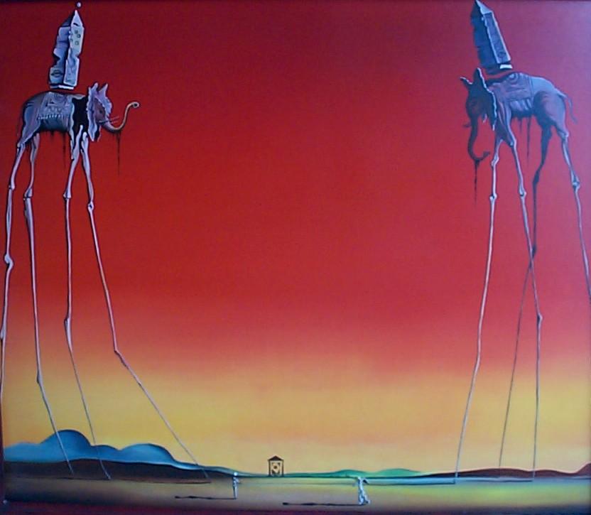 Tarp Simplified >> Salvador Dali - The Elephants - Alan Gandy